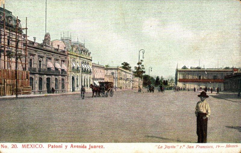 Calle Patoni y Avenida Juárez