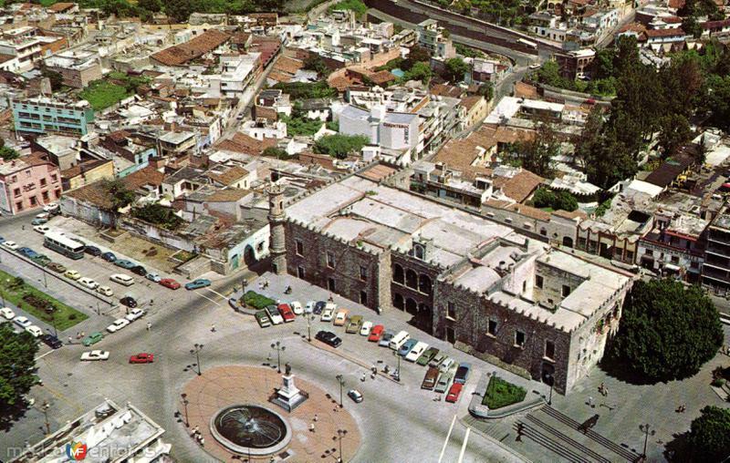 Vista Aérea del Palacio de Cortés en Cuernavaca