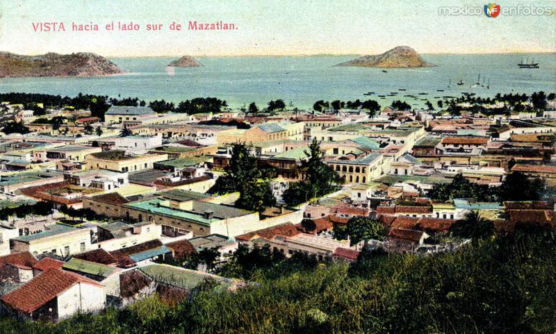 Vista panorámica sur de Mazatlán