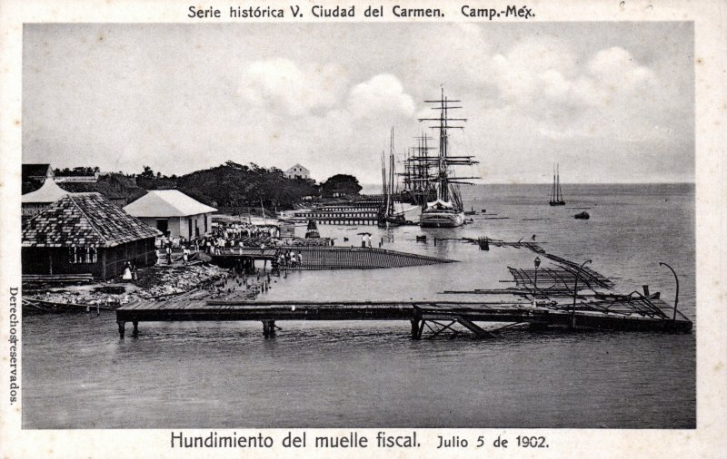 Hundimiento del Muelle Fiscal en 1902
