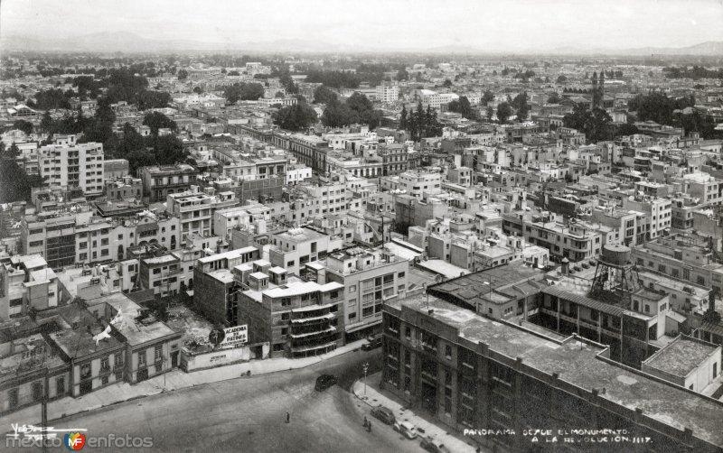 Vista panorámica desde el Monumento a la Revolución