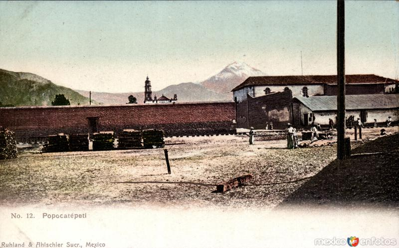 El Popocatépetl desde Amecameca