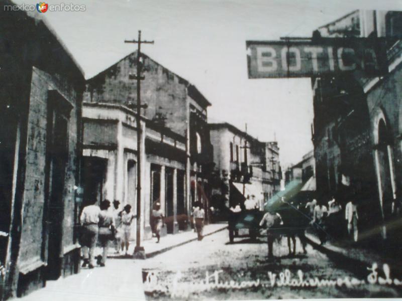 CALLE CONSTITUCION, VILLAHERMOSA, TAB. 1926