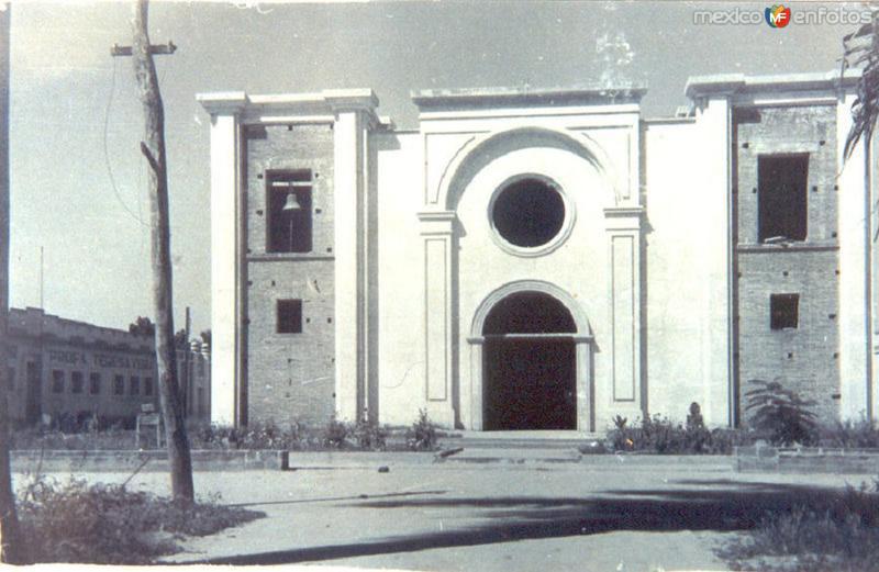 IGLESIA EN CONTRUCCION, MACUSPANA, TAB. 1937