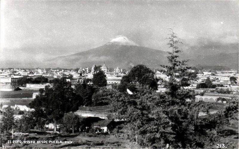 El Popocatépetl, visto desde Puebla
