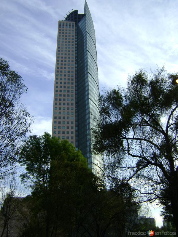 La Torre Mayor, el rascacielos mal alto del país. Enero/2013