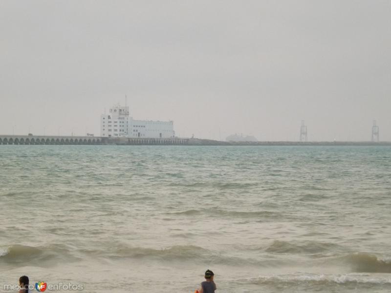 El muelle de Puerto Progreso, Yucatán. Abril/2013