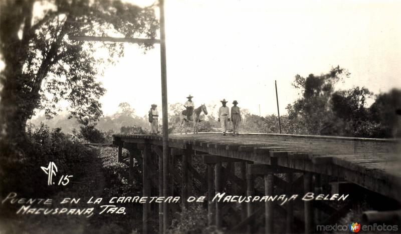 Puente en la carretera Macuspana - Belén