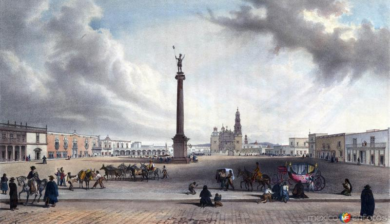 Plaza Principal de Aguascalientes,1836