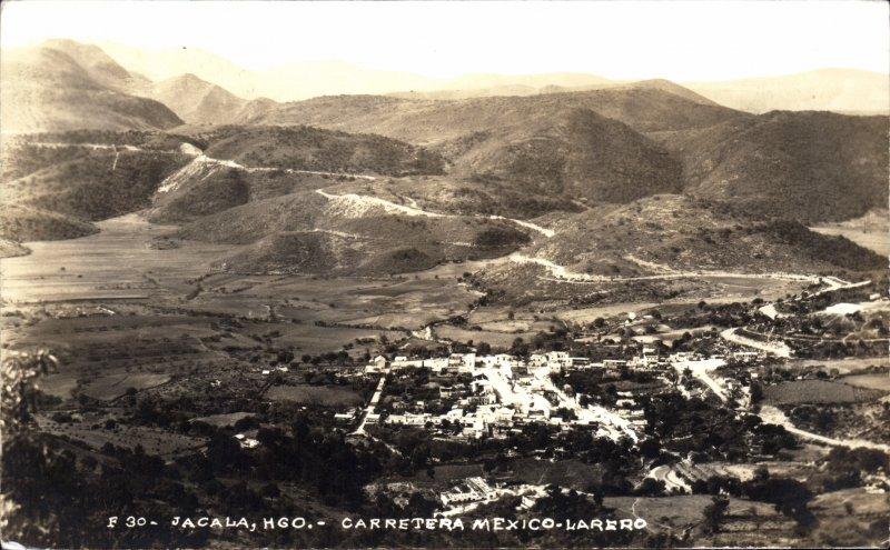 Vista panorámica de Jacala, sobre la Carretera México-Laredo