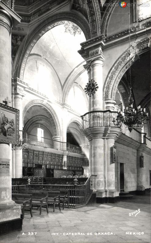 Interior de la Catedral de Oaxaca
