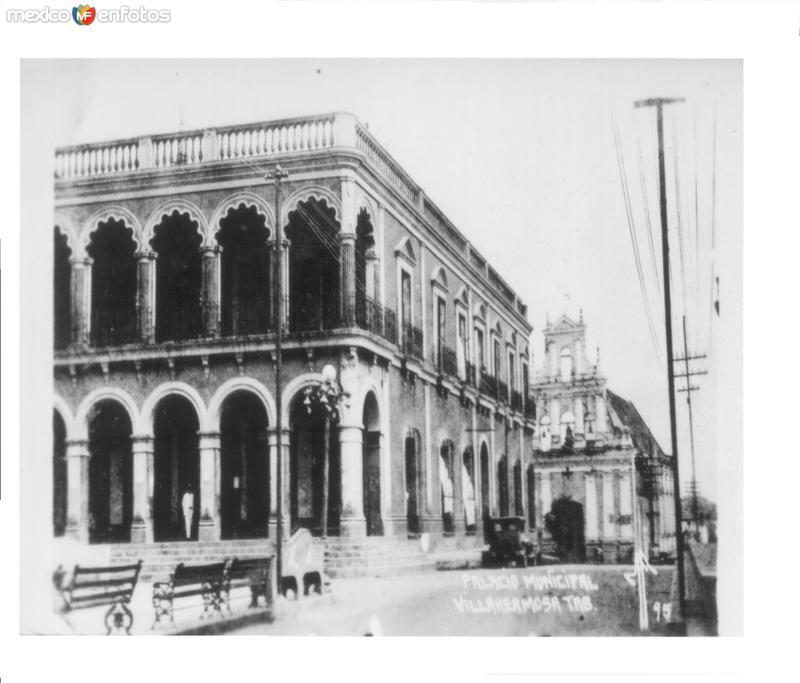 PALACIO MUNICIPAL, VILLAHERMOSA, TABASCO. 1927