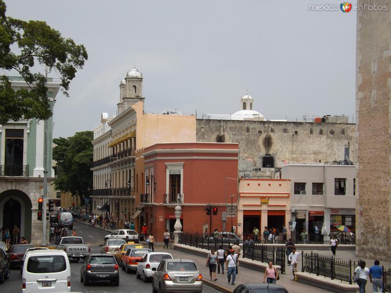 La calle 60 de Mérida, Yucatán. Abril/2013