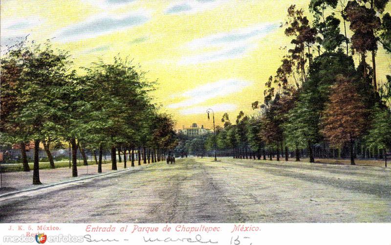 Entrada al parque de Chapultepec