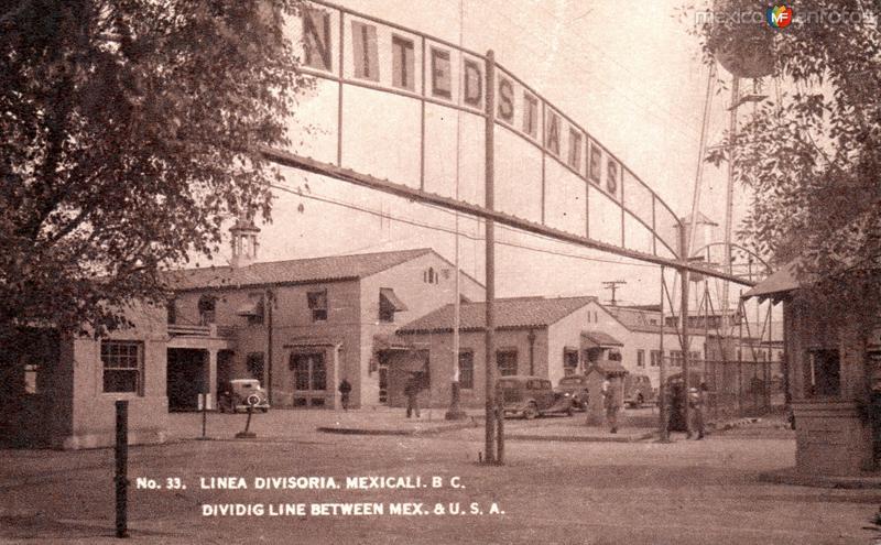 Línea divisoria internacional entre México y los Estados Unidos