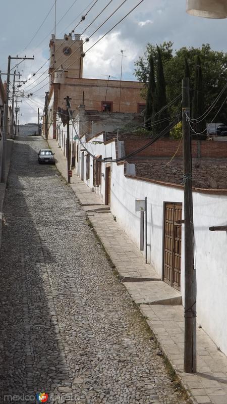 Calles del Pueblo Mágico de Pozos. Abril/2014