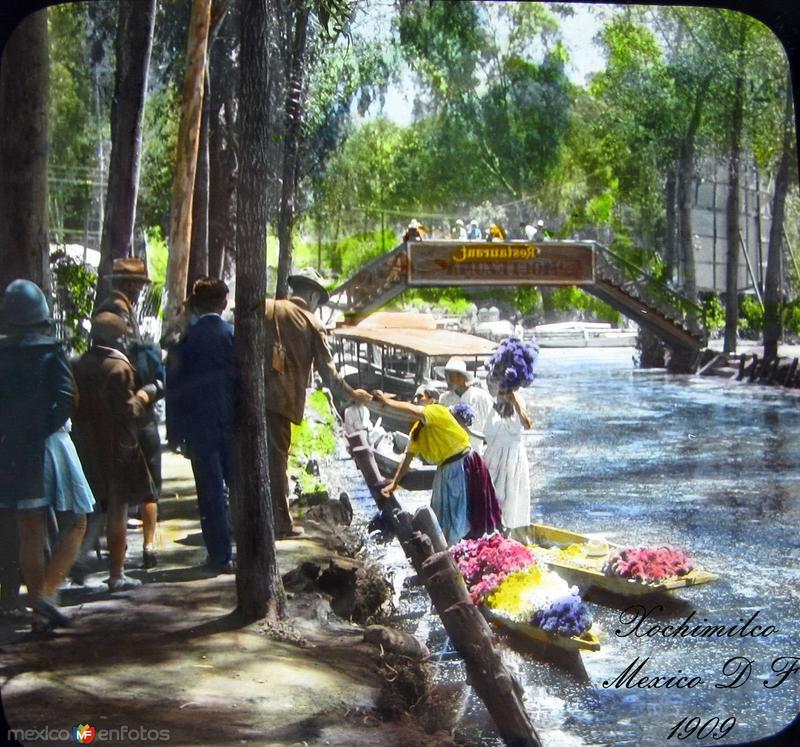 Xochimilco Vendedora de Flores 1920