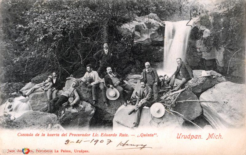 Cascada de la huerta del procurador Lic. Eduardo Ruiz