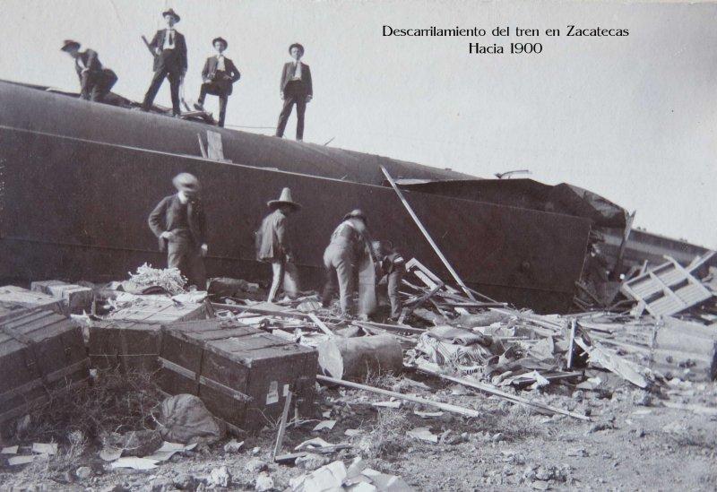 Descarrilamiento de Tren durante la Revolucion Mexicana