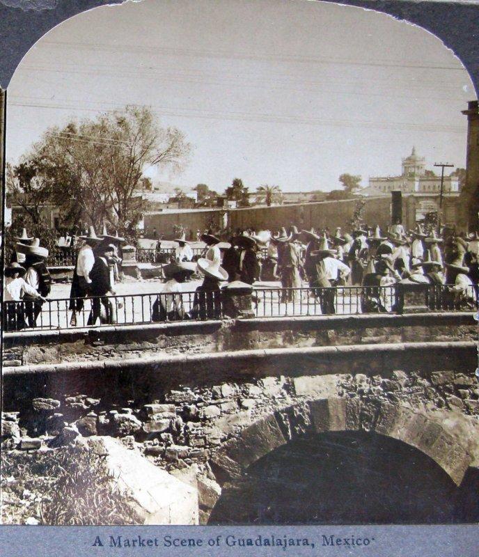 Escena de un mercado Hacia 1900