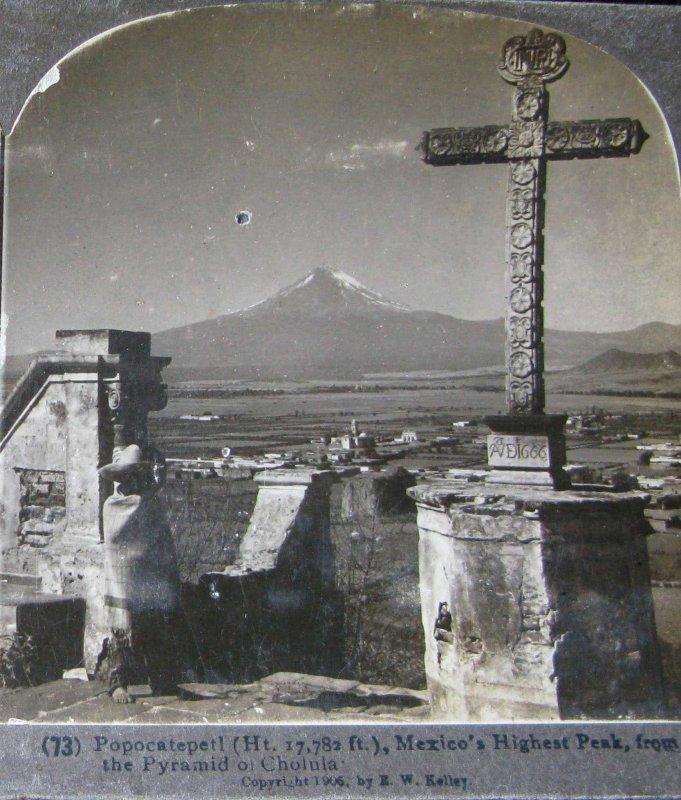 Panorama del Popocatepetl Hacia 1900