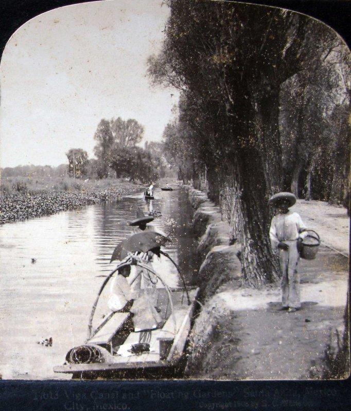 canal de la Viga Hacia 1900