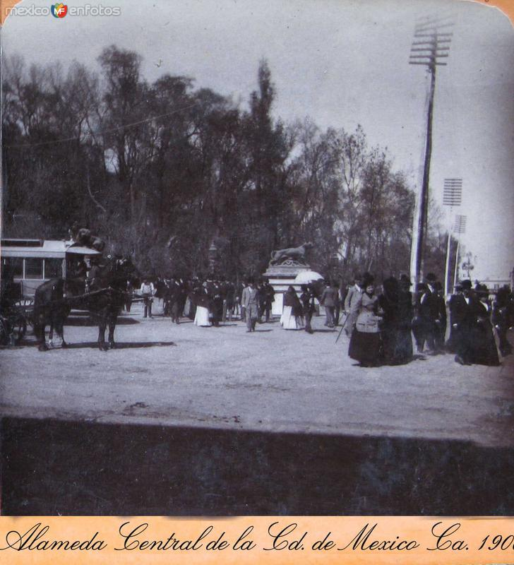 La Alameda Hacia 1900