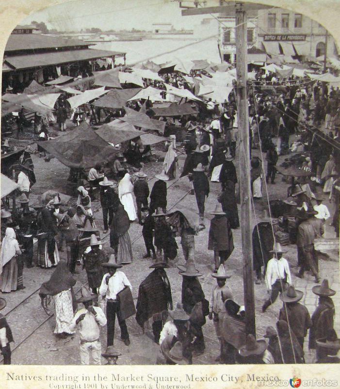 Mercado Hacia 1900