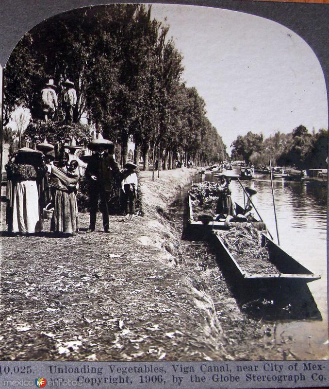 Canal de la Viga Hacia 1909