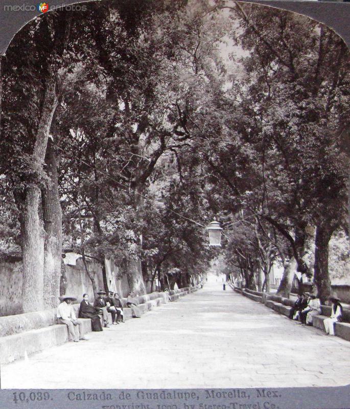 Calzada de Guadalupe hacia 1909