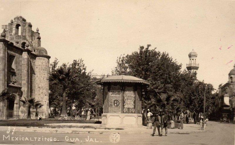 Plaza Mexicaltzingo Hacia 1920