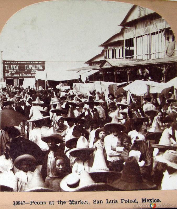Peones en el mercado Hacia 1900