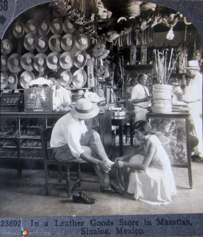 Tienda de Sombreros Hacia 1900