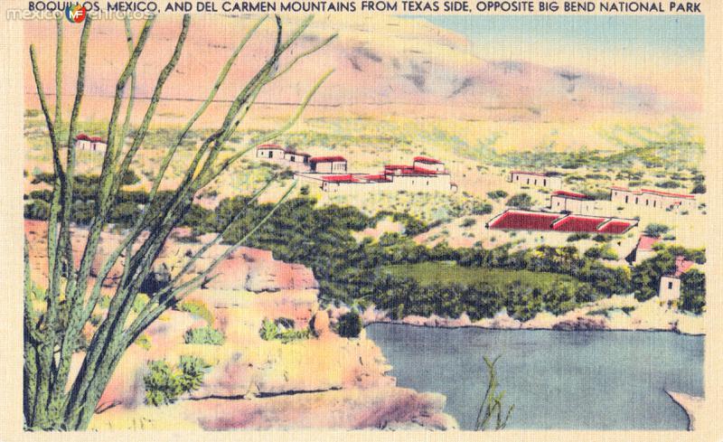 Vista del pueblo de Boquillas del Carmen, desde el Parque Nacional Big Bend en Texas