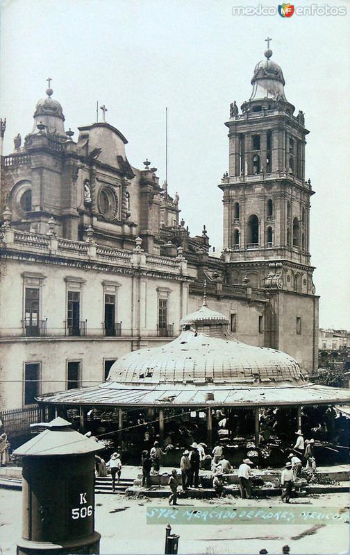 Mercado de las Flores por HUGO BREHME Hacia 1930
