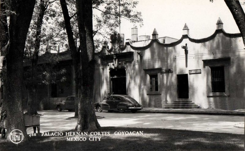 Palacio de Hernan Cortes Coyoacan Hacia 1945