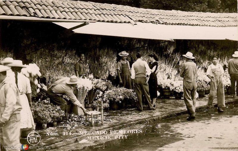 Mercado de Flores Hacia 1945