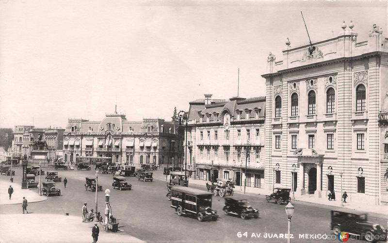 Avenida Juarez Hacia 1935