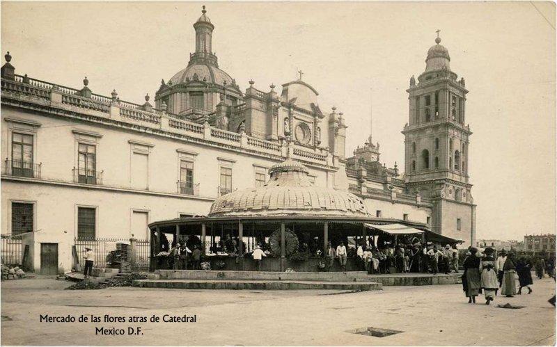 Mercado de las Flores Hacia 1900