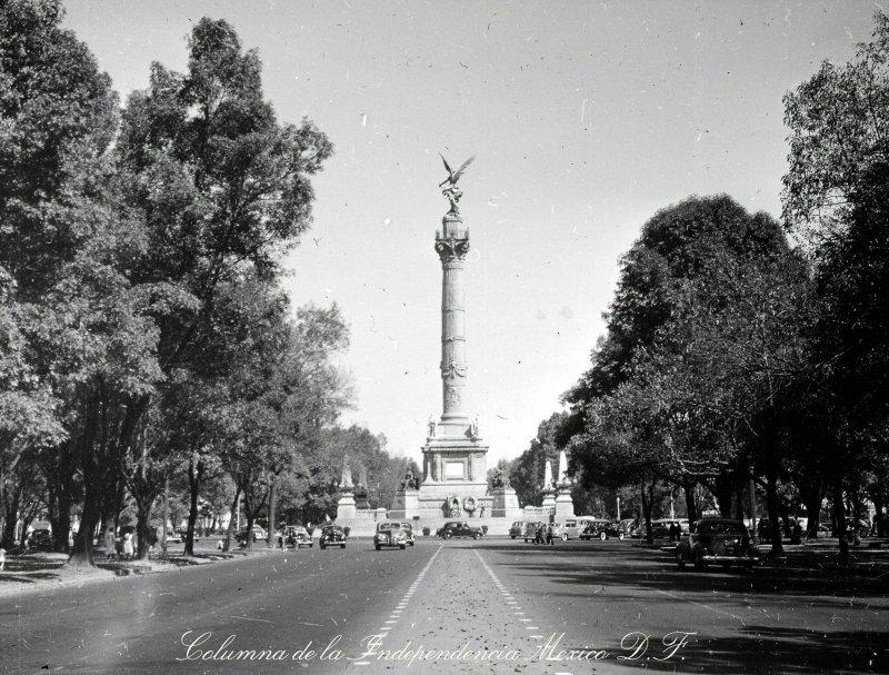 Ave Paseo de la Reforma Hacia 1945