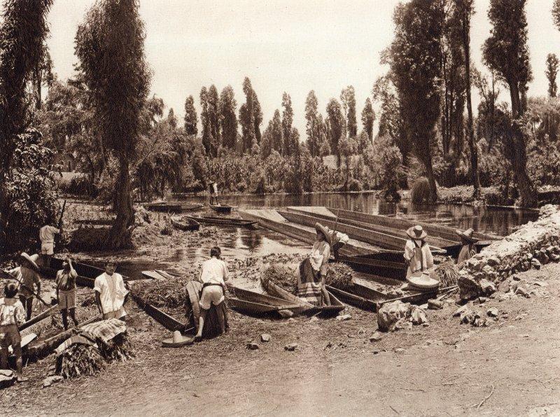 Embarcadero en Xochimilco (circa 1920)