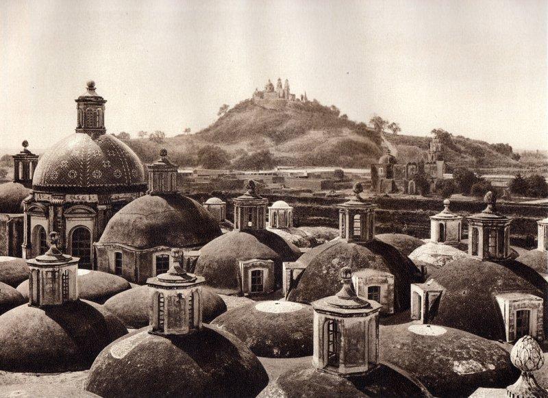 Cholula, con la pirámide (circa 1920)
