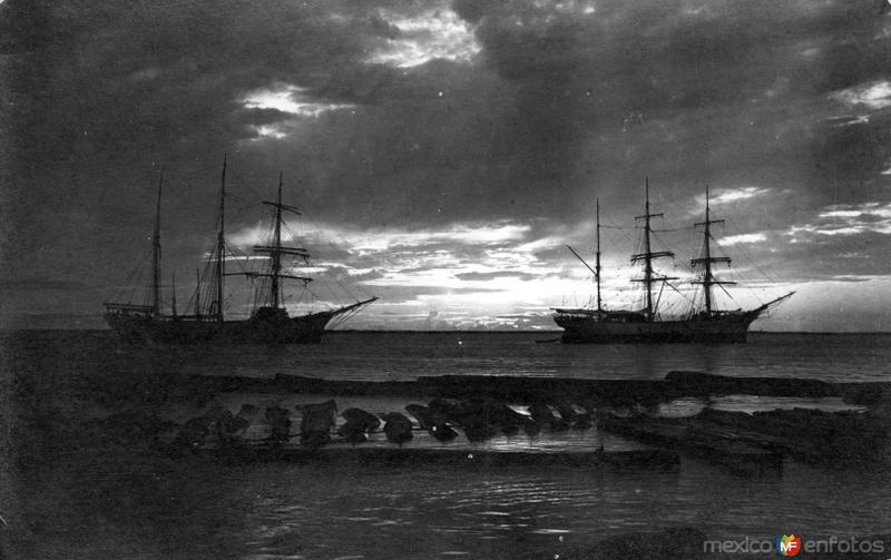 Crepúsculo en la Laguna de Términos (circa 1920)