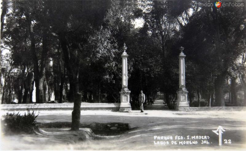 Parque Francisco I Madero Hacia 1945