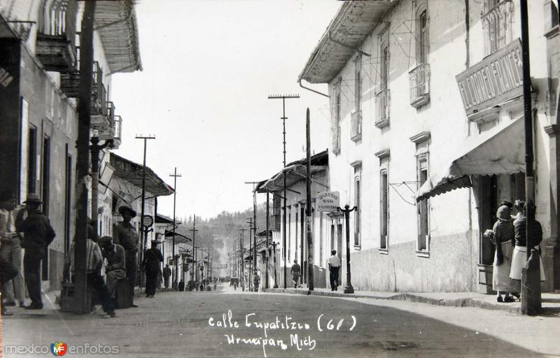 Calle Cupatzio Hacia 1945