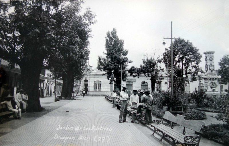 Jardin de Los Martires Hacia 1945