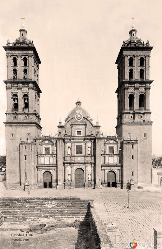 Puebla, Catedral, 1886