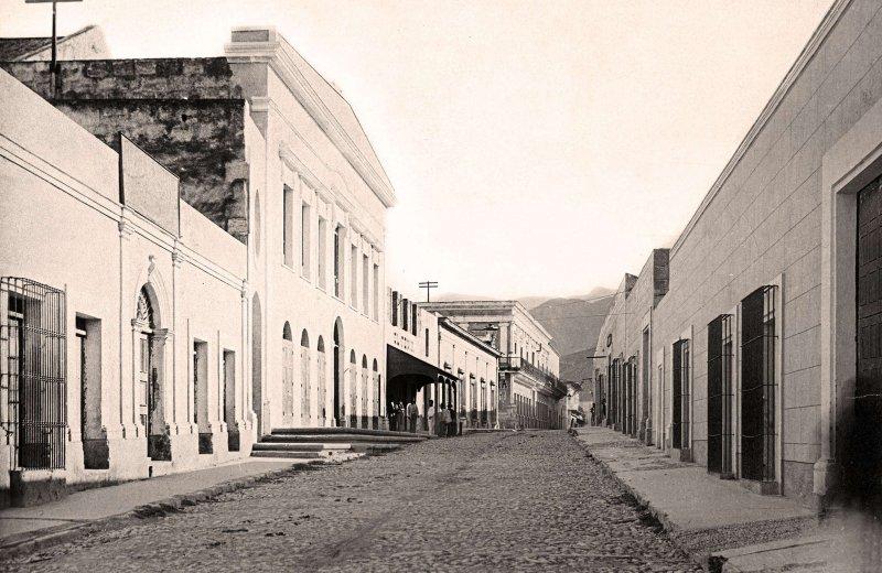 Monterrey, Calle del Teatro, 1887
