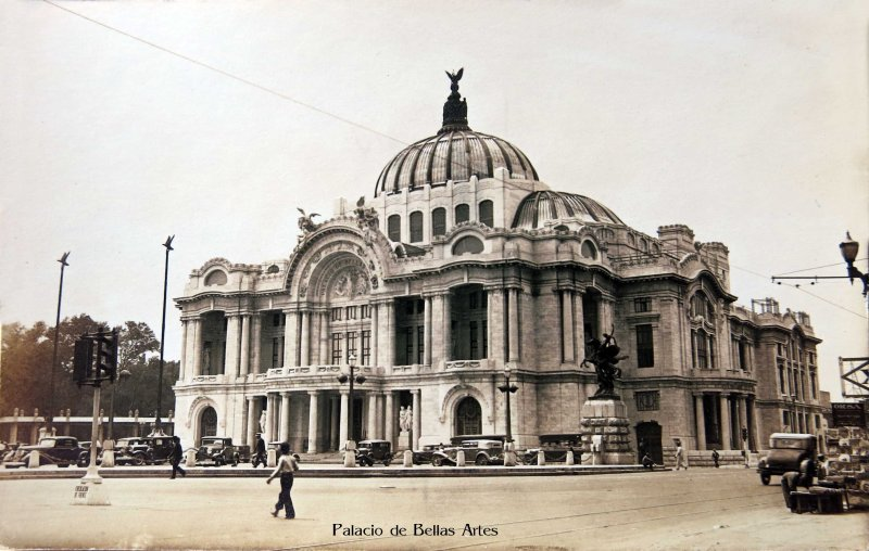 El Palacio de Bellas Artes Hacia 1940