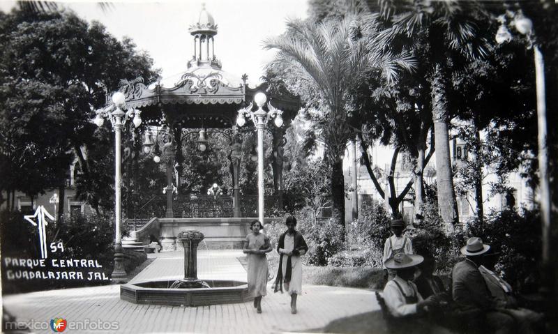 Parque Central Hacia 1930